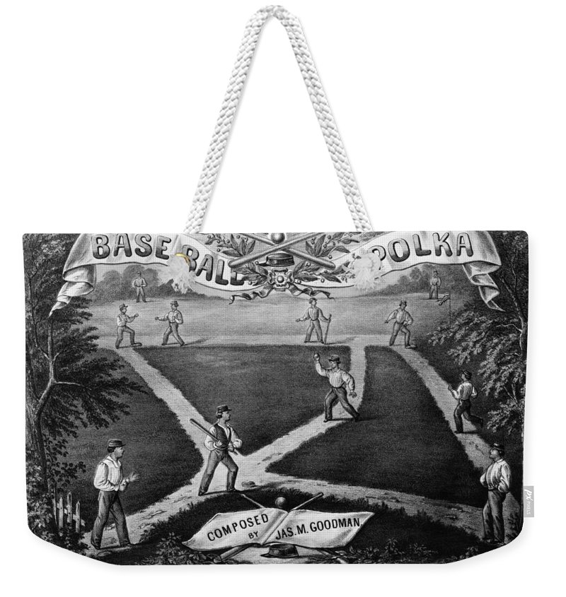 1867 Weekender Tote Bag featuring the photograph Baseball Polka, 1867 by Granger