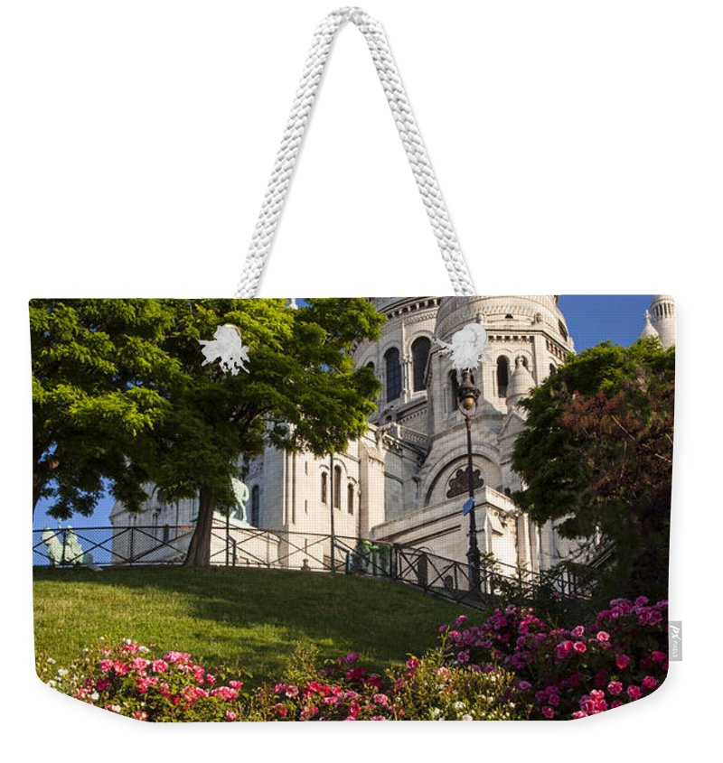 Architectural Weekender Tote Bag featuring the photograph Basilique Du Sacre Coeur by Brian Jannsen