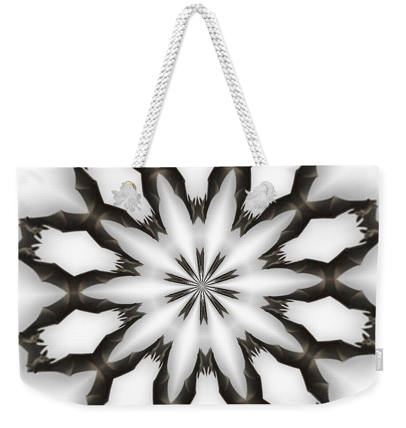 Kaleidoscopic Weekender Tote Bag featuring the photograph Bat-o-scope by Donna Brown