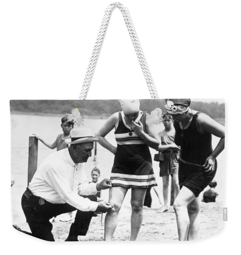 1922 Weekender Tote Bag featuring the photograph Bathing Suits, 1922 by Granger