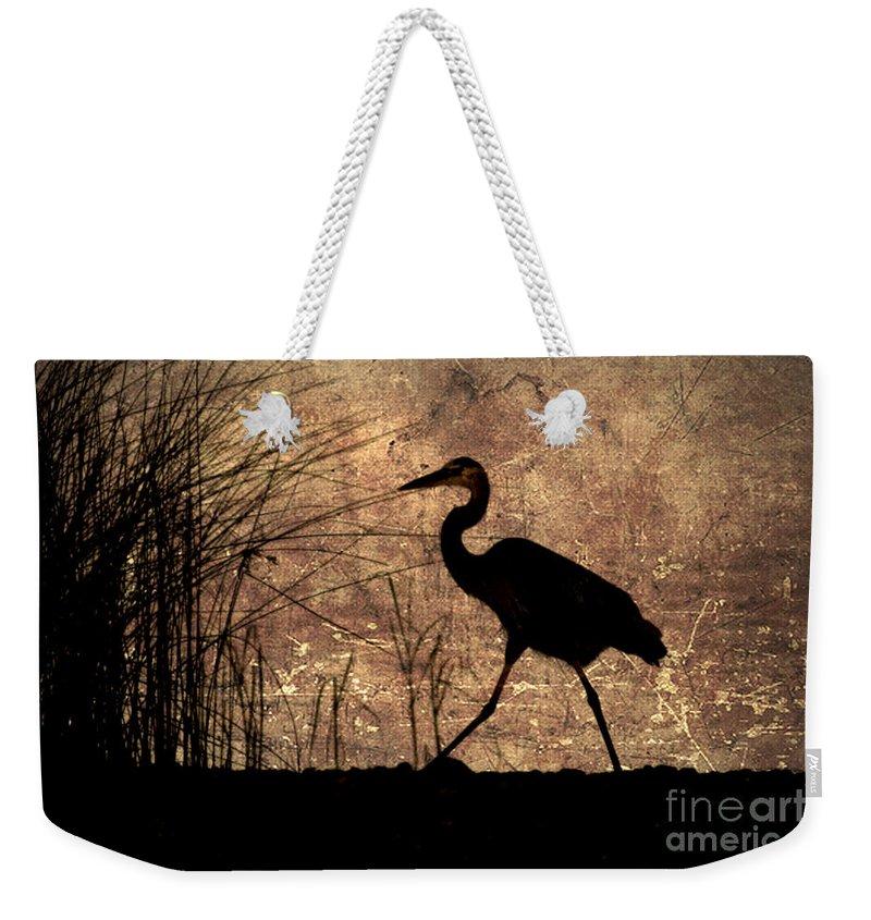 Heron Weekender Tote Bag featuring the photograph Bayou Walk by Joan McCool