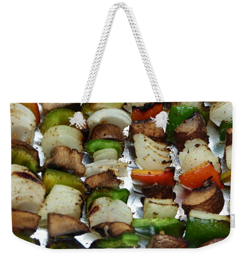 Fresh Weekender Tote Bag featuring the photograph Bbq Grilled Vegetables by Richard Bryce and Family