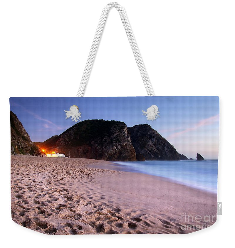 Adraga Weekender Tote Bag featuring the photograph Beach At Evening by Carlos Caetano