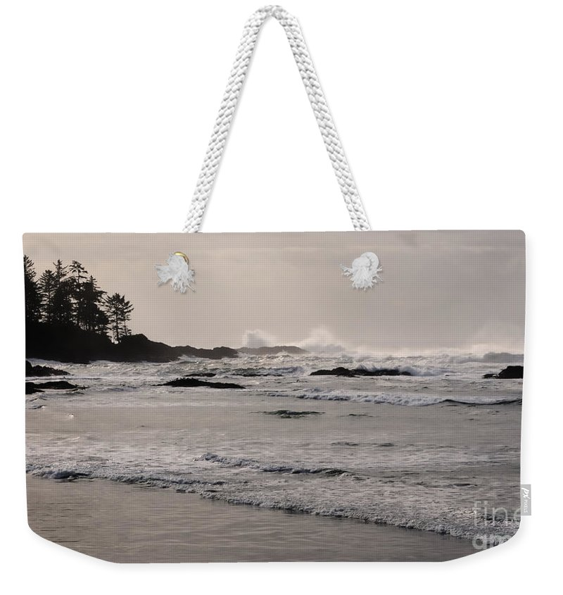 Tofino Weekender Tote Bag featuring the photograph Beach At Tofino by Vivian Christopher