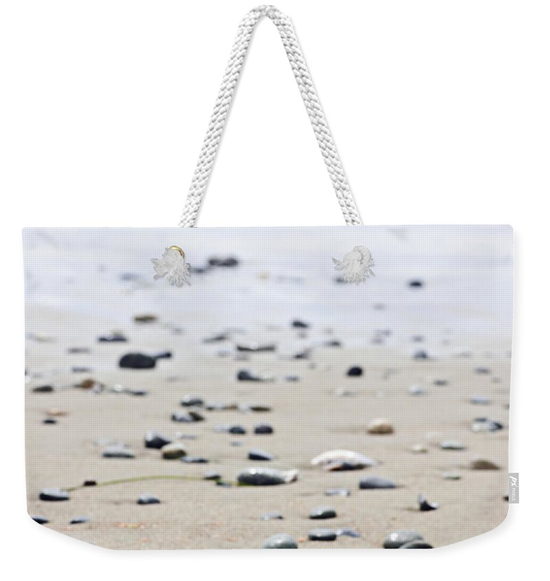 Pacific Weekender Tote Bag featuring the photograph Beach Detail On Pacific Ocean Coast Of Canada by Elena Elisseeva