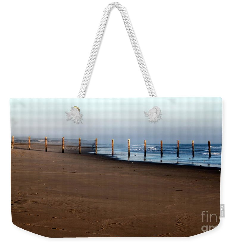 Fence Weekender Tote Bag featuring the photograph Beach Fence by Henrik Lehnerer