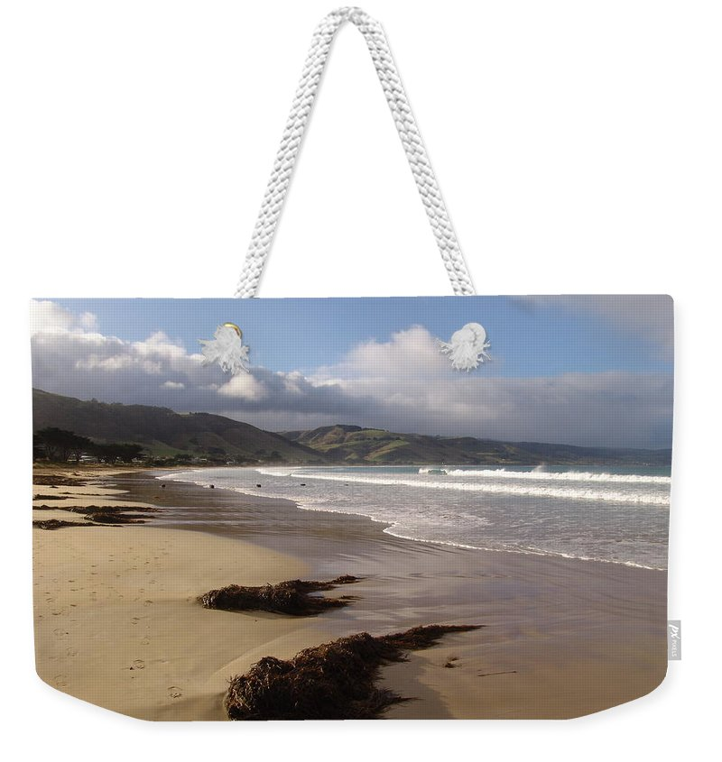Landscape Weekender Tote Bag featuring the photograph Beach Surf by Ian Mcadie