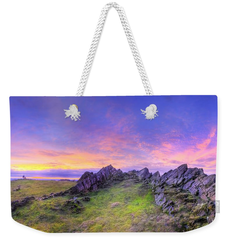 Art Weekender Tote Bag featuring the photograph Beacon Hill Sunrise 3.0 Pano by Yhun Suarez