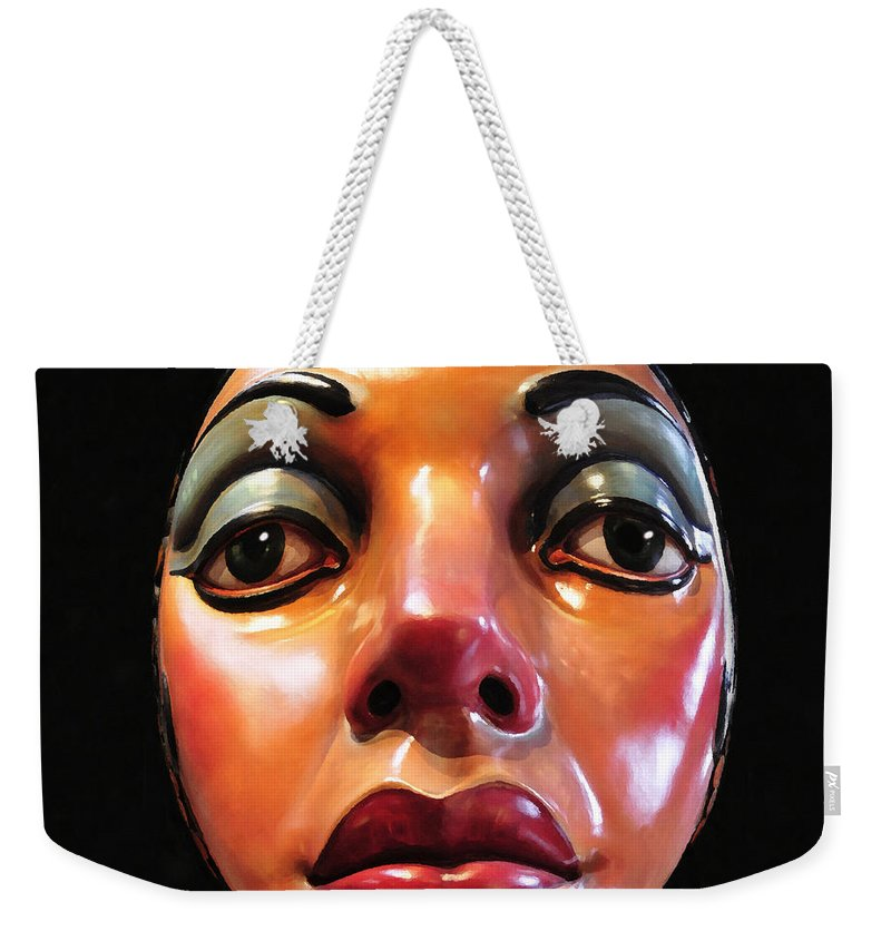 Art Weekender Tote Bag featuring the painting Beautiful Features by David Lee Thompson