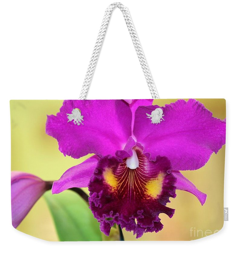Orchid Weekender Tote Bag featuring the photograph Beautiful Hot Pink Orchid by Sabrina L Ryan