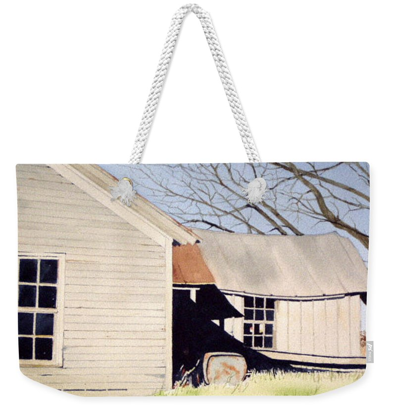 Abandoned Weekender Tote Bag featuring the painting Beck's Knob Memory by Jim Gerkin