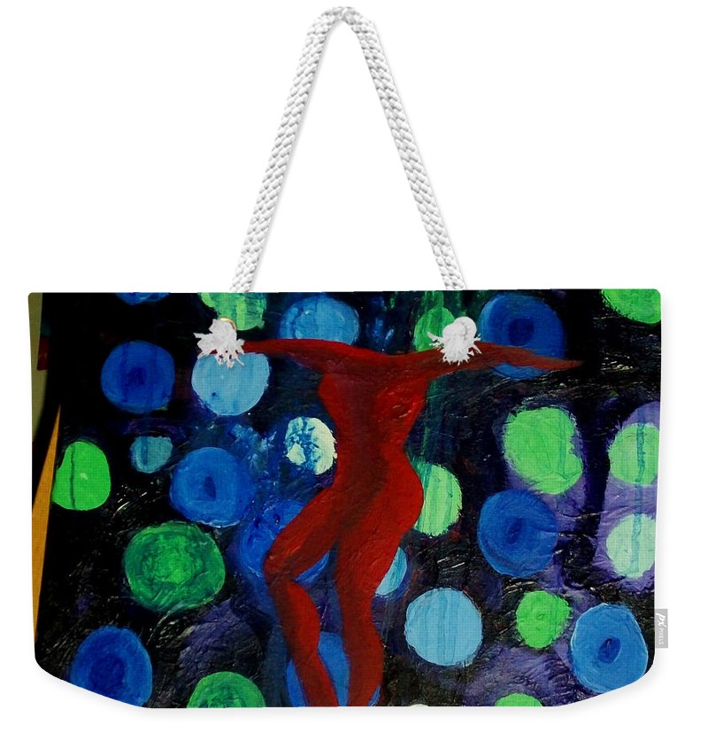 Gouache Paint Weekender Tote Bag featuring the painting Becoming Whole by Laurette Escobar