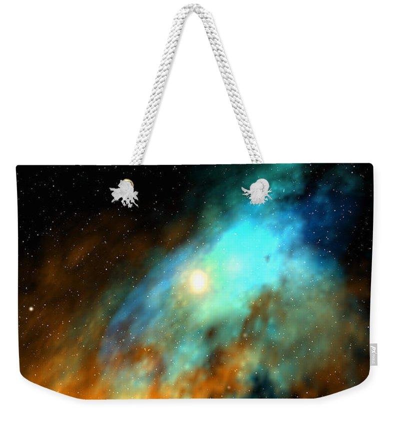 Nebula Space Art Weekender Tote Bag featuring the digital art Beducas Nebula by Robert aka Bobby Ray Howle
