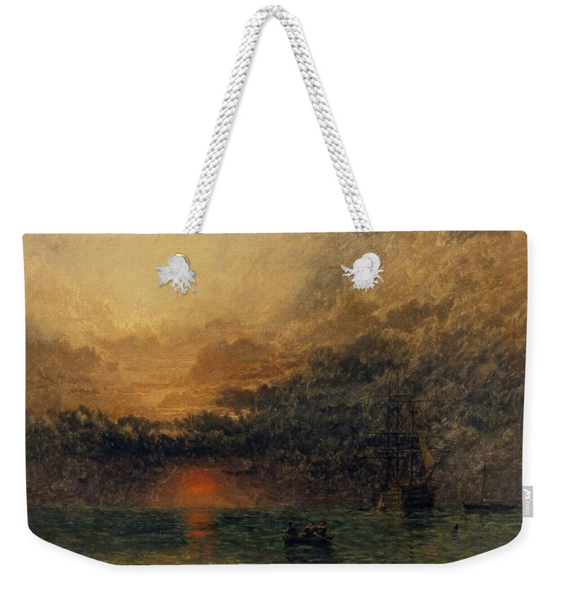 Before The Storm Weekender Tote Bag featuring the painting Before The Storm by Henry Dawson