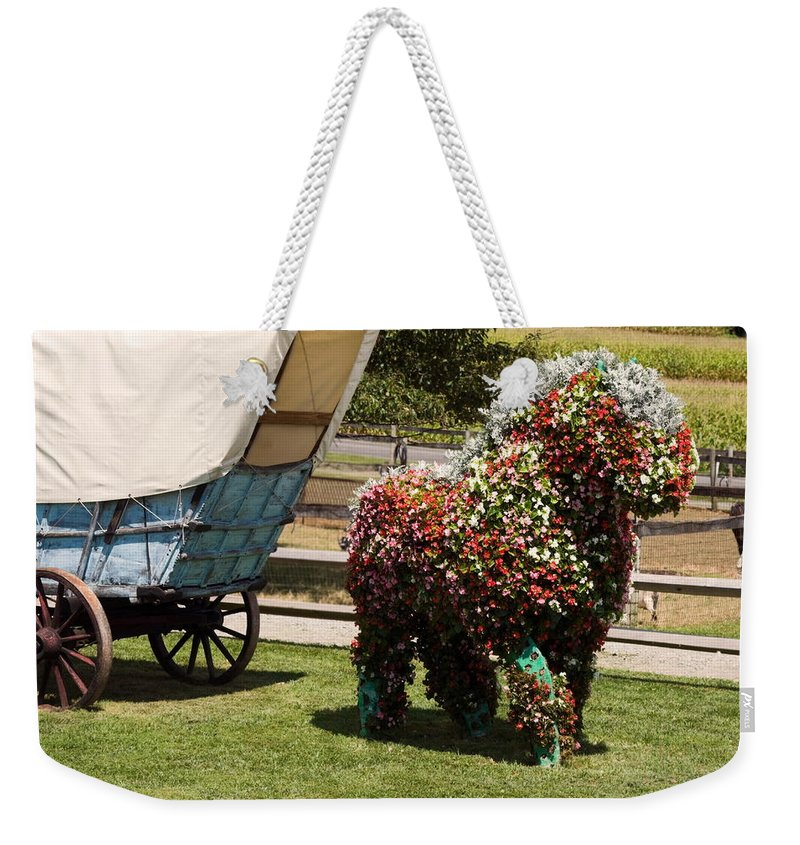 Begonias Weekender Tote Bag featuring the photograph Begonia Horse by Sally Weigand