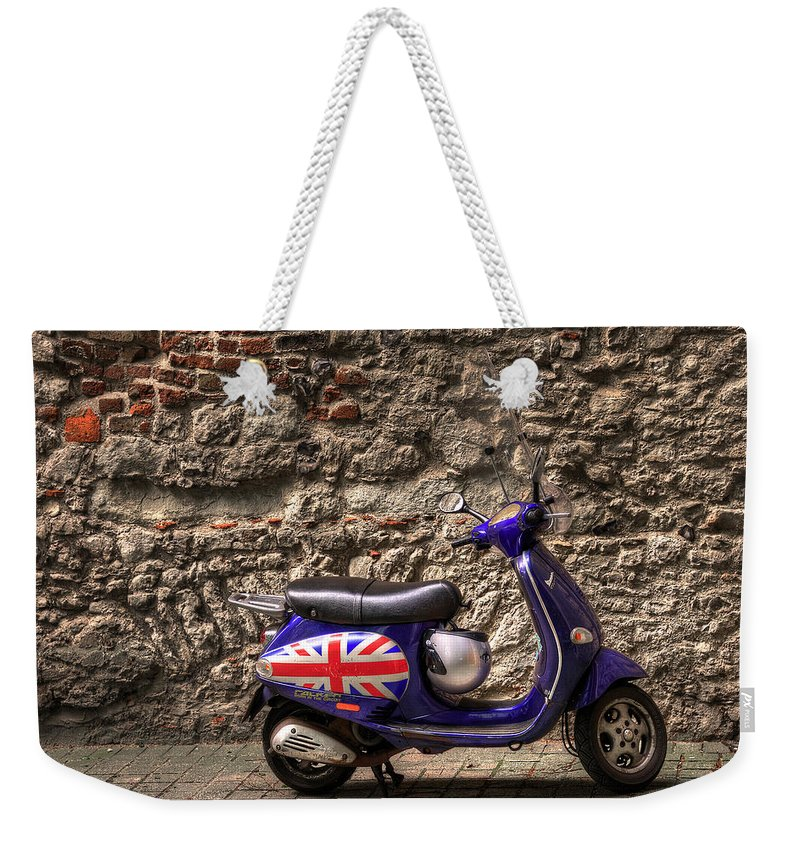 Moto Weekender Tote Bag featuring the photograph Being English by Svetlana Sewell