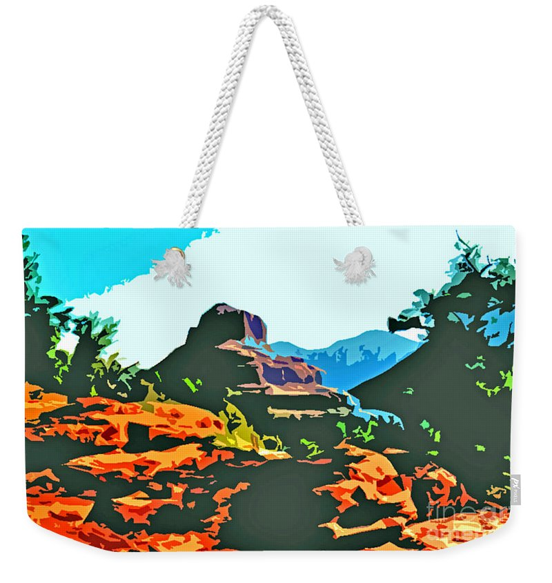 Bell Rock Weekender Tote Bag featuring the photograph Bell Rock Sedona Arizona by Jerome Stumphauzer