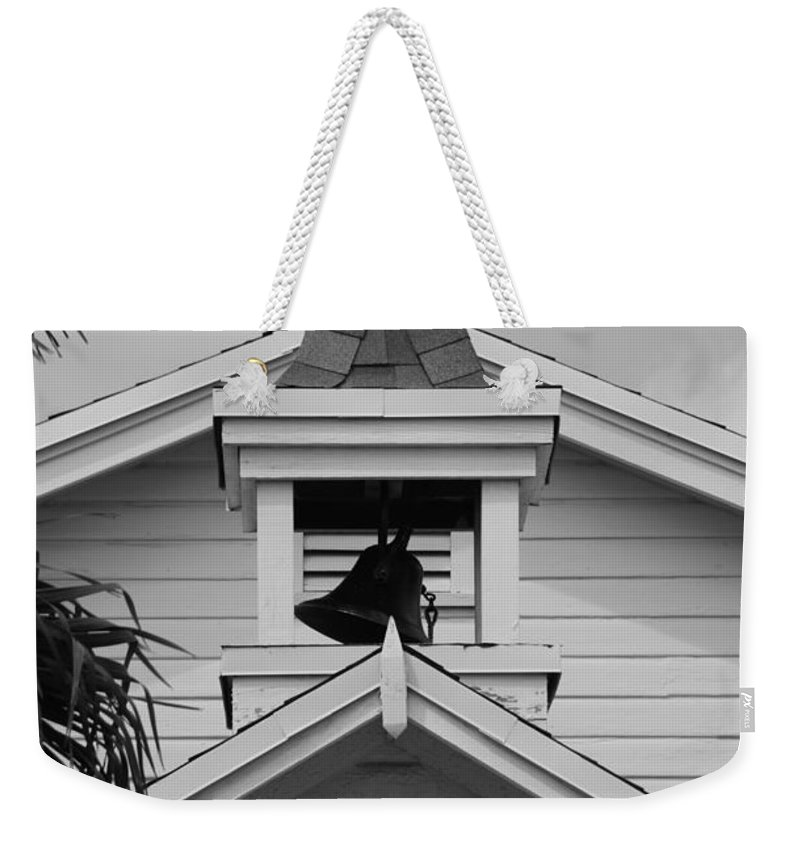 Architecture Weekender Tote Bag featuring the photograph Bell Tower In Black And White by Rob Hans