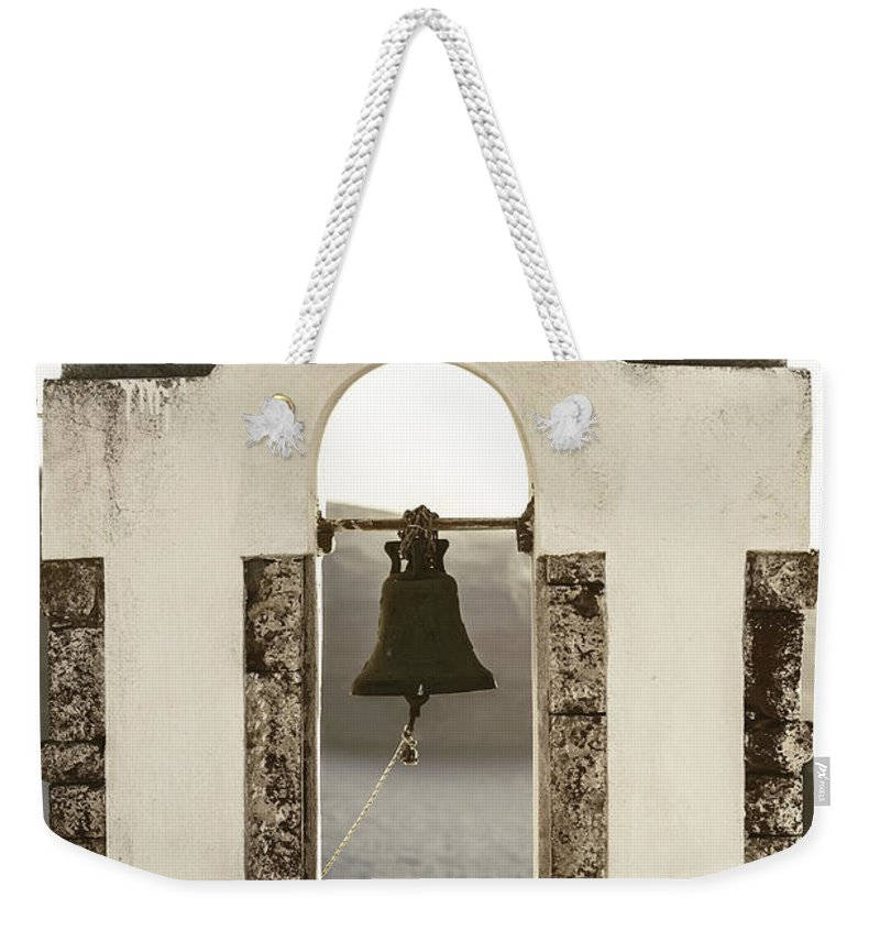 Bell Weekender Tote Bag featuring the photograph Bell Tower by Joana Kruse