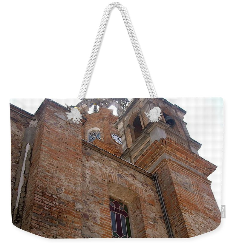 Aimee Mouw Weekender Tote Bag featuring the photograph Bell Tower Of Our Lady Of Guadalupe by Aimee Mouw