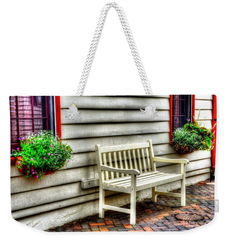 Bench Weekender Tote Bag featuring the photograph Bench Me by Debbi Granruth