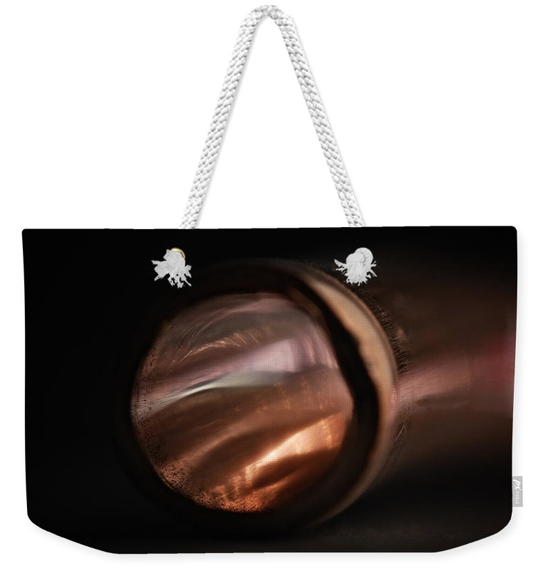 Abstract Weekender Tote Bag featuring the photograph Bending Light by Susan Capuano