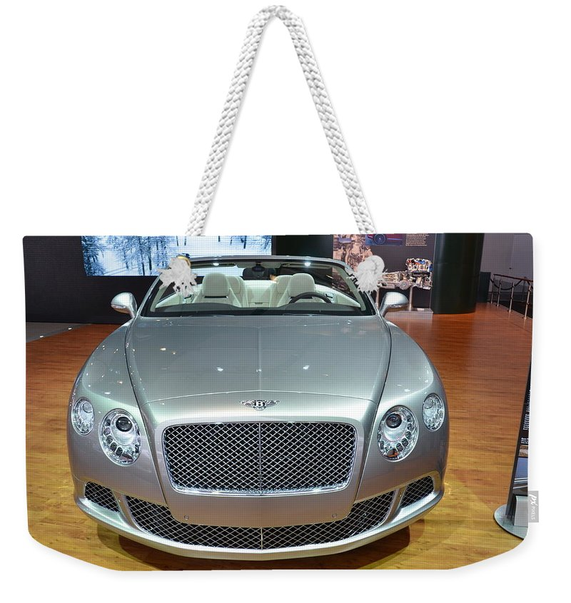 Bentley Weekender Tote Bag featuring the photograph Bentley Starting Price Just Below 200 000 by Randy J Heath