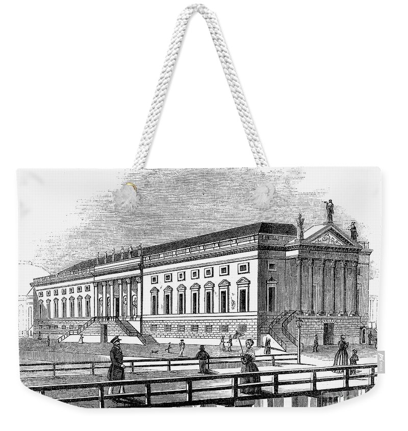 1843 Weekender Tote Bag featuring the photograph Berlin: Opera House, 1843 by Granger