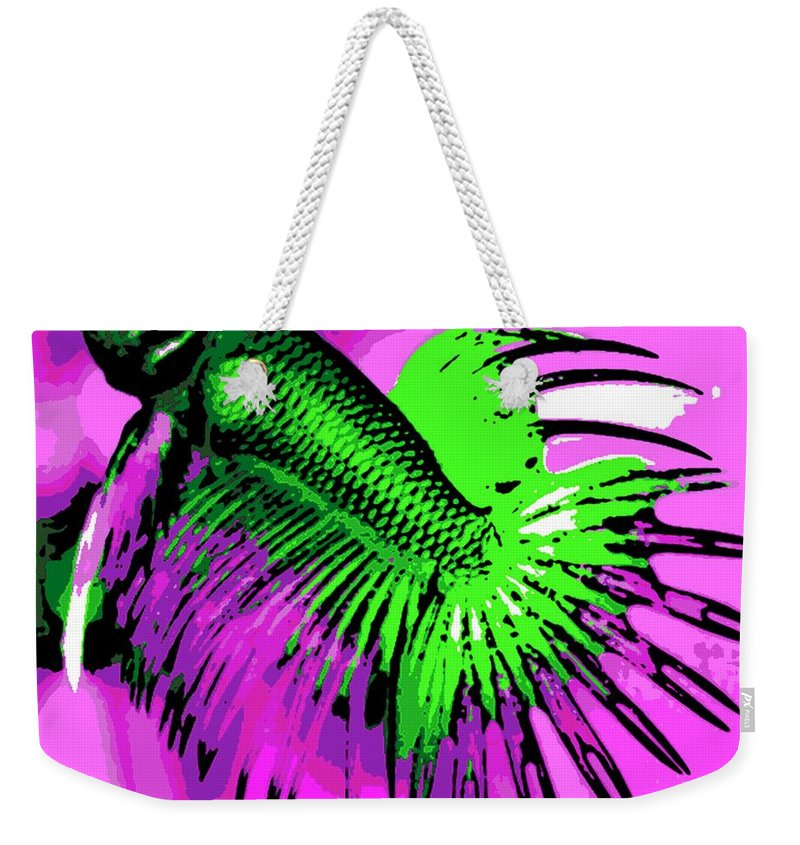 Betta Weekender Tote Bag featuring the photograph Betta by George Pedro