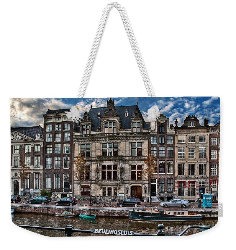 Holland Amsterdam Weekender Tote Bag featuring the photograph Beulingsluis. Amsterdam by Juan Carlos Ferro Duque
