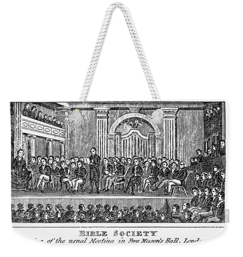 19th Century Weekender Tote Bag featuring the photograph Bible Societies by Granger