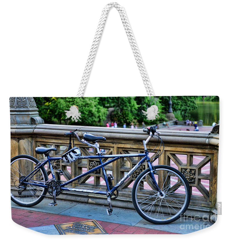 Bicycle Built For Two Weekender Tote Bag featuring the photograph Bicycle Built For Two by Paul Ward