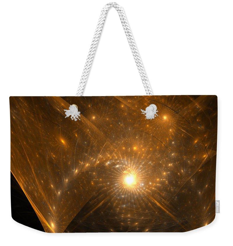 Fractal Weekender Tote Bag featuring the digital art Big Bang Unfolding by Richard Ortolano