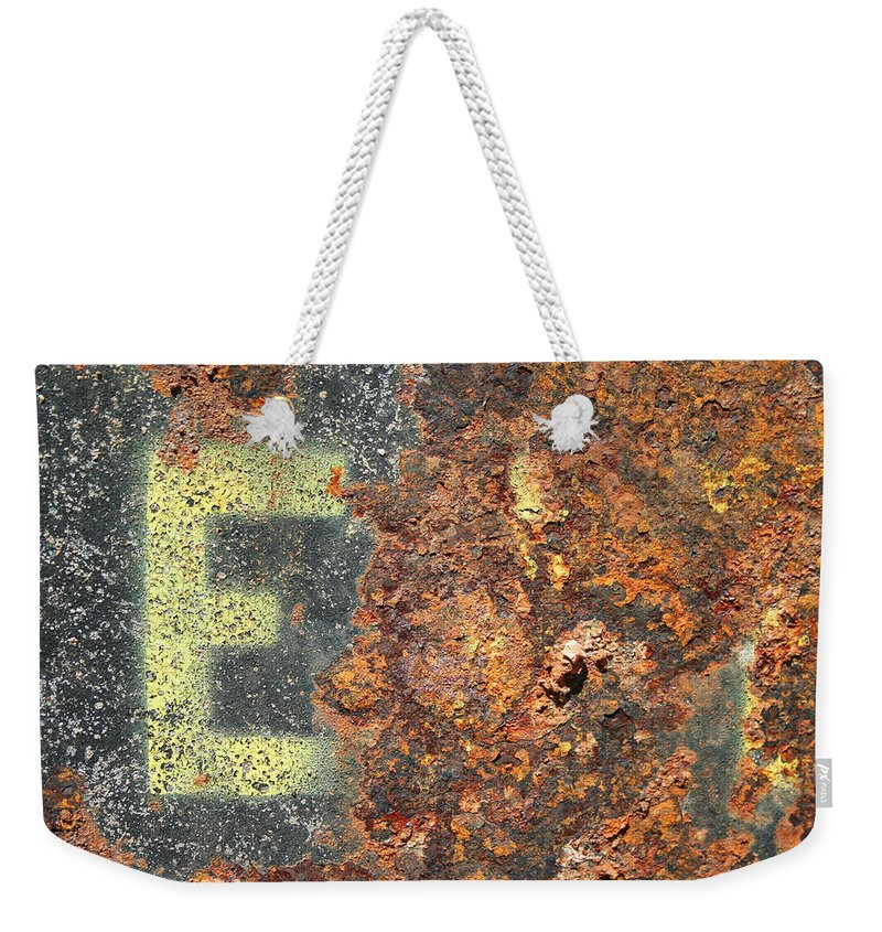 Rust Weekender Tote Bag featuring the photograph Big E by Ric Bascobert