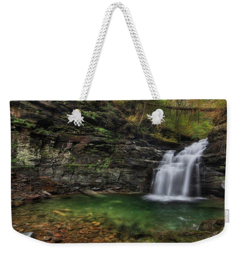 Big Falls Weekender Tote Bag featuring the photograph Big Falls - Heberly Run by Lori Deiter
