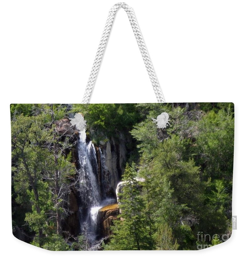 Water Fall Weekender Tote Bag featuring the photograph Big Horn National Forest by Living Color Photography Lorraine Lynch