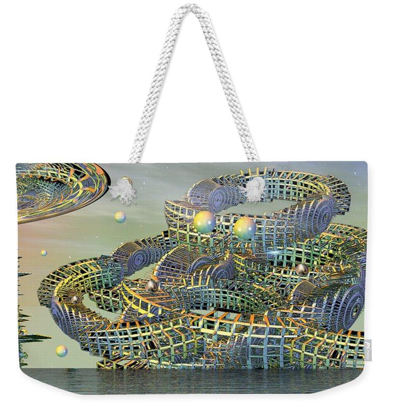 Phil Sadler Weekender Tote Bag featuring the digital art big by Phil Sadler