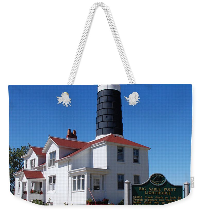 Lighthouse Weekender Tote Bag featuring the photograph Big Sable Point Lighthouse by Grace Grogan