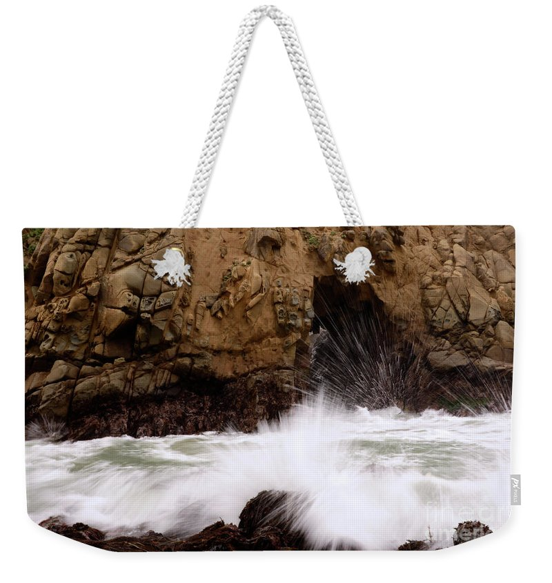 California Weekender Tote Bag featuring the photograph Big Sur 1 by Bob Christopher