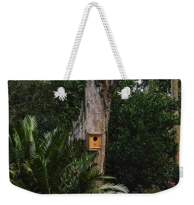 Birdhouse Weekender Tote Bag featuring the photograph Bird House by Carol Bradley