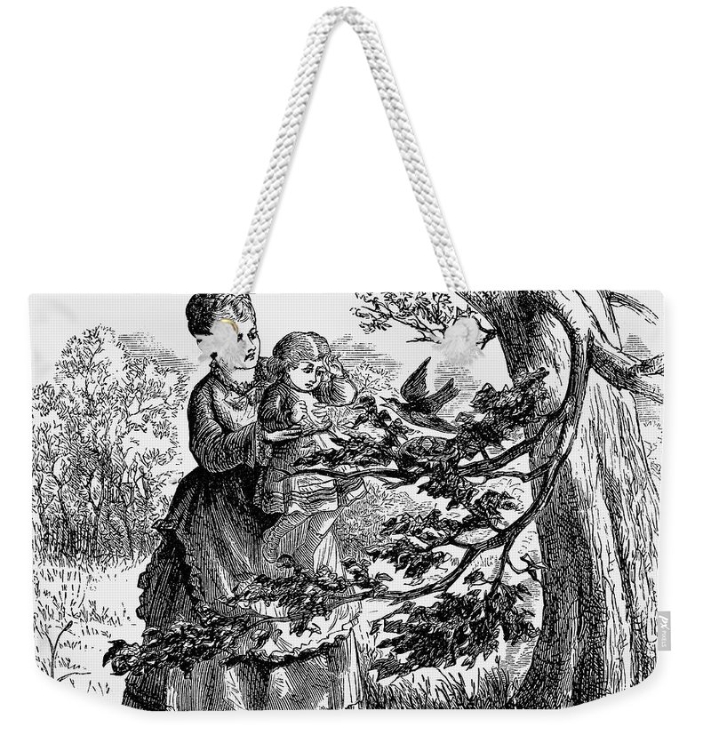 1873 Weekender Tote Bag featuring the photograph Birds Nest, 1873 by Granger