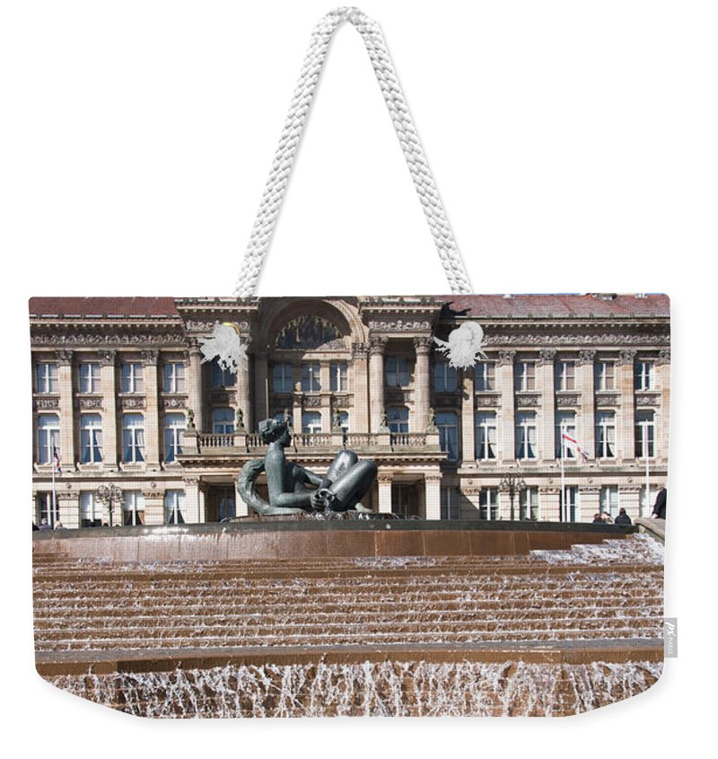 Birmingham Weekender Tote Bag featuring the photograph Birmingham Council Building by Andrew Michael