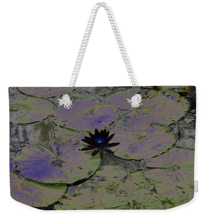 Black Weekender Tote Bag featuring the photograph Black Lili by Carolyn Stagger Cokley