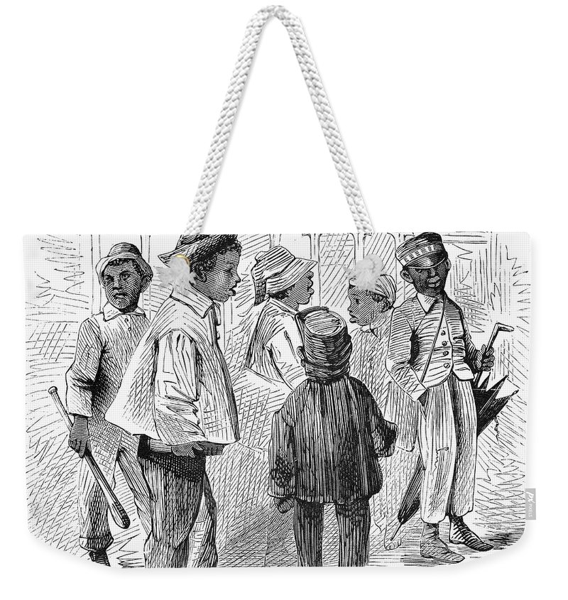 1867 Weekender Tote Bag featuring the photograph Black School Children by Granger