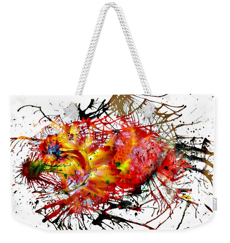 Jerry Cordeiro Photographs Photographs Framed Prints Photographs Photographs Photographs Weekender Tote Bag featuring the photograph Bleeding Petals by The Artist Project