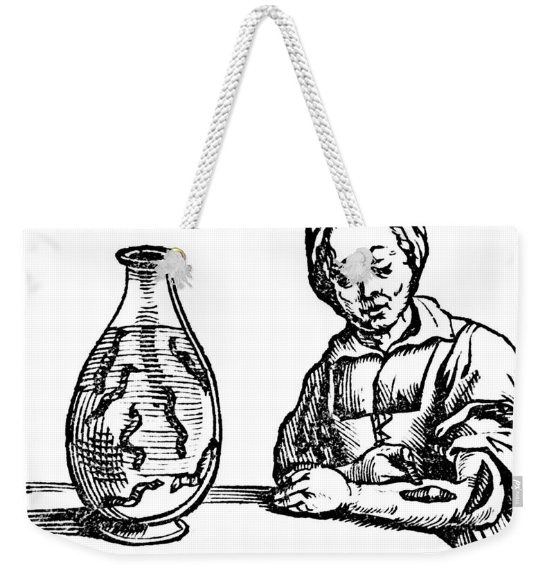 Medical Weekender Tote Bag featuring the photograph Bloodletting, Leech Method by Science Source