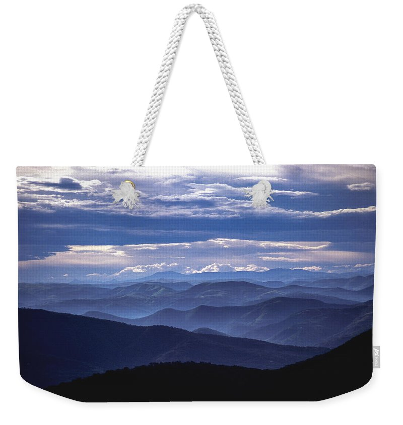 Africa Weekender Tote Bag featuring the photograph Blue by Alistair Lyne