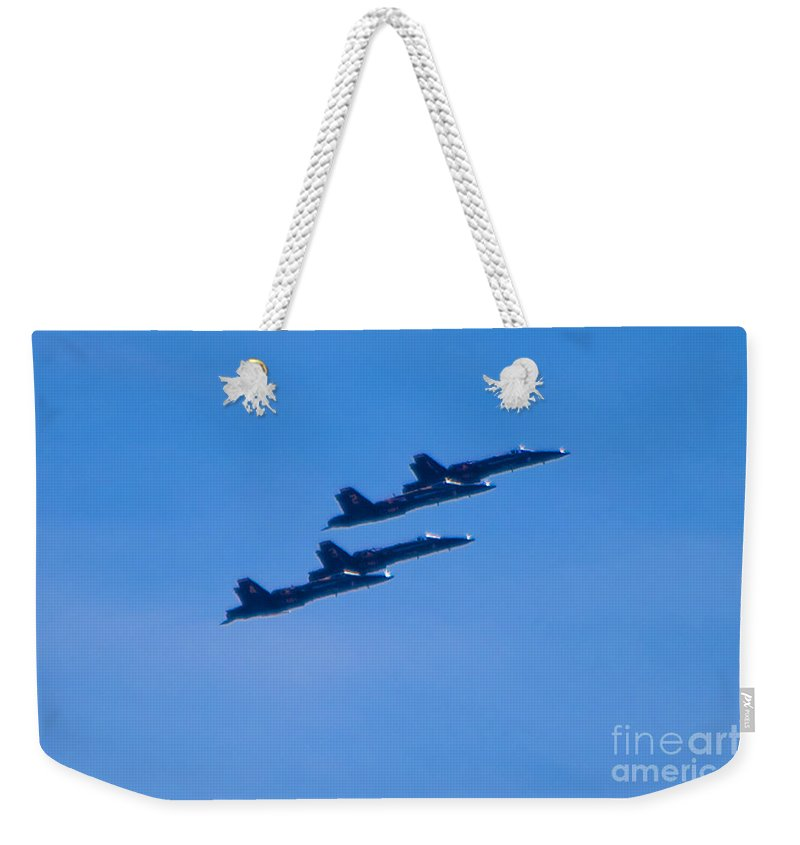 Blue Angels Weekender Tote Bag featuring the photograph Blue Angels 16 by Mark Dodd