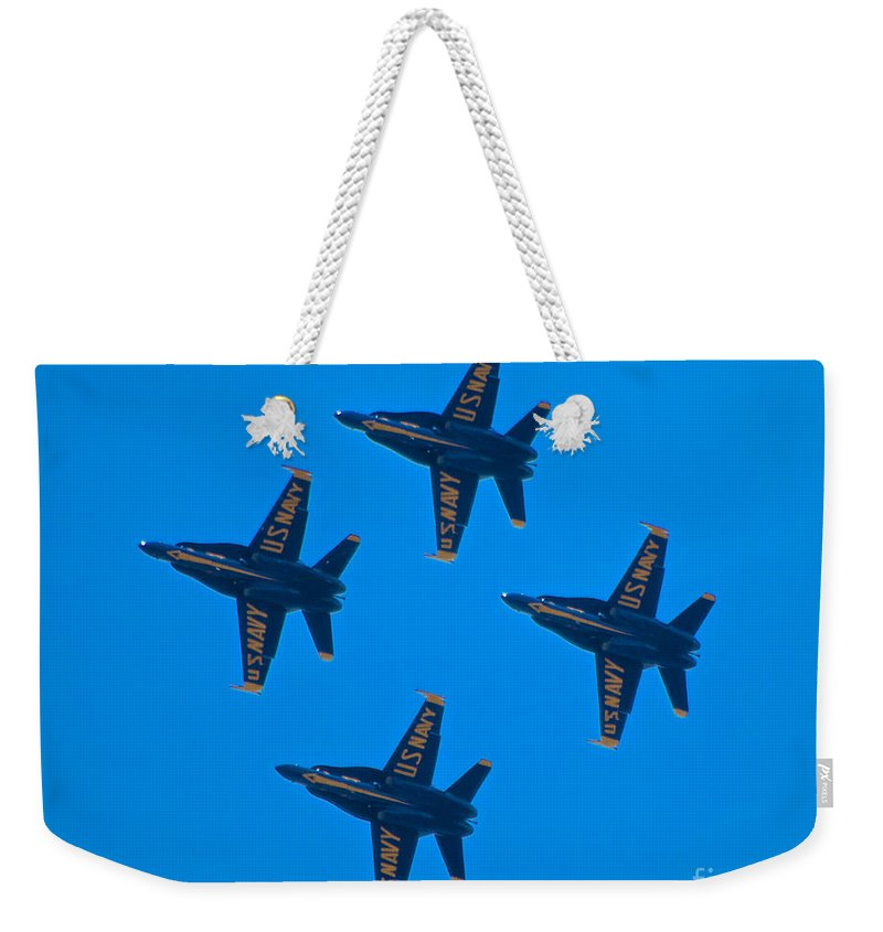 Blue Angels Weekender Tote Bag featuring the photograph Blue Angels 8 by Mark Dodd