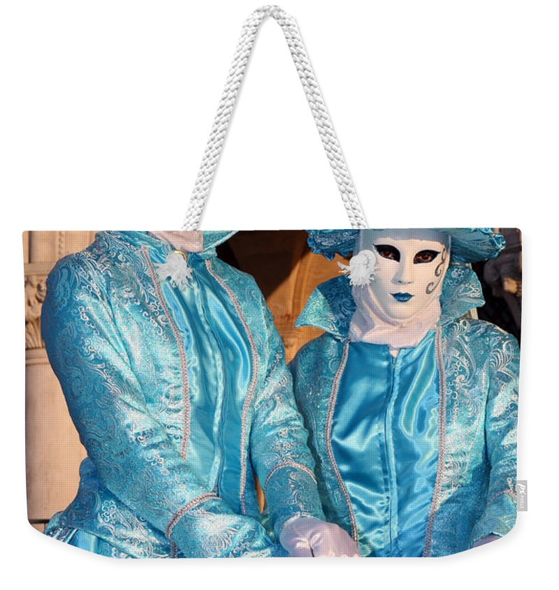 Venice Weekender Tote Bag featuring the photograph Blue Cane Duo by Donna Corless
